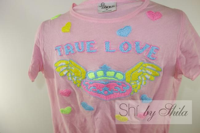 Other Ankh Ankh Shi By Shila And Yellow Crown Crown Flying Hearts Hearts Heart Heart T Shirt Pink