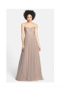 Jenny Yoo Mink Grey Polyester Tulle Anabelle Gown Formal Bridesmaid/Mob Dress Size 20 (Plus 1x)