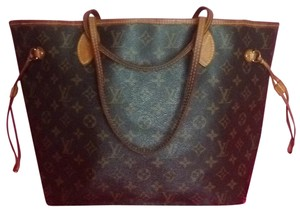 Louis Vuitton Neverfull Gm Mm Damier Ebene Tote in Brown