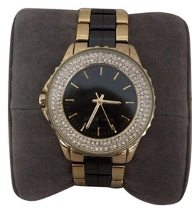 Anne Klein Black Ann Klein watch with faux diamonds