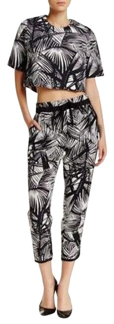 Elizabeth and James Black/White Silk Evelyna Track Pants Capris Size 12 (L, 32, 33) Elizabeth and James Black/White Silk Evelyna Track Pants Capris Size 12 (L, 32, 33) Image 1