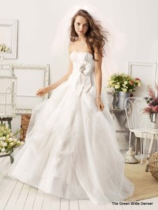 Galina Ivory Tulle and English Net Wg3057 Feminine Wedding Dress Size 0 (XS)