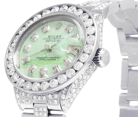 Preload https://img-static.tradesy.com/item/21865027/rolex-green-mop-steel-datejust-oyster-26mm-dial-iced-out-diamond-watch-105-ct-tech-accessory-0-1-540-540.jpg