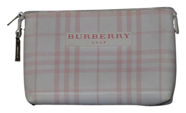 Item - Plaid Pink & White Canvas Clutch