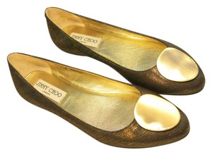 Jimmy Choo Ballerinas Metallic brown and gold Flats