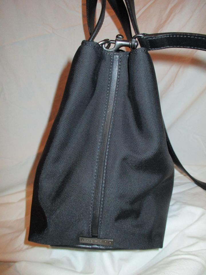 0991ee203e Coach Satchel Black Twill Fabric   Leather Trim Cross Body Bag - Tradesy