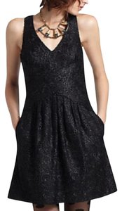 Leifsdottir New Anthropologie Embroidered Lbd Dress