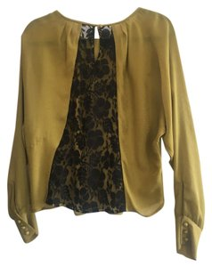 Rachel Roy Lace Pattern Top Yellow and Black