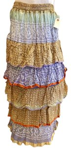 Anu by Natural Maxi Skirt multi-color; mainly blue and gold