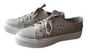 Brash Cut-out Sneaker White Taupe Athletic