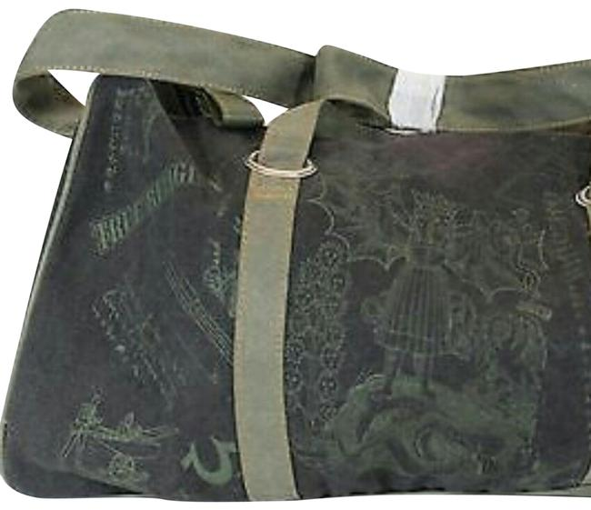 Item - Duffle Unisex Black and Green Canvas Weekend/Travel Bag