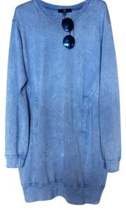 Missguided short dress Blue Sweatshirt Faded Denim on Tradesy