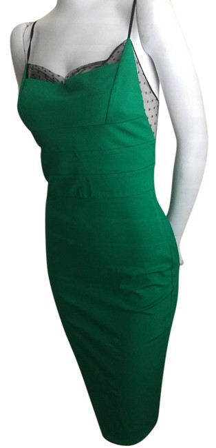 Item - Green Mid-length Night Out Dress Size 4 (S)