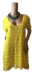 MADE Fashion Week for Impulse short dress yellow on Tradesy