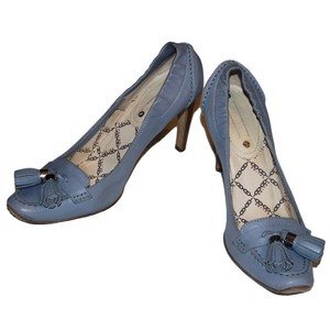 Cline Tassels Leather Loafers Blue Powder Blue/Periwinkle Pumps