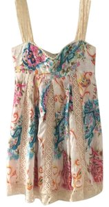 Tracy Feith short dress Cream with floral print on Tradesy