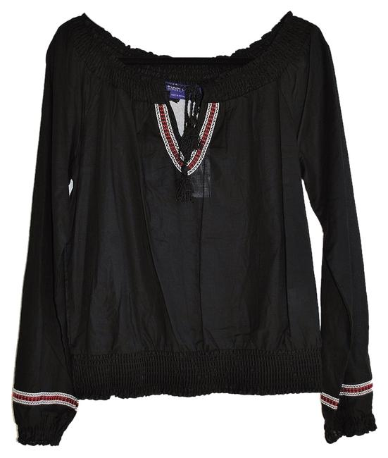 BCBGMAXAZRIA Miley Cyrus Peasant Blouse Mexican Vintage Tunic