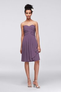 David's Bridal Wisteria Chiffon F14847 Formal Bridesmaid/Mob Dress Size 6 (S)