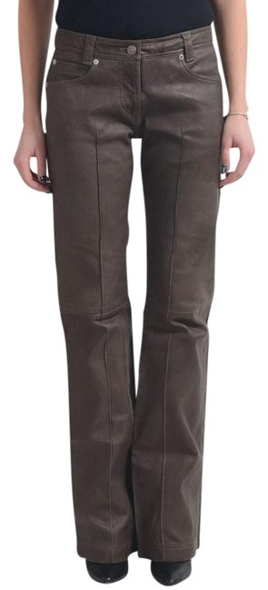 Item - Brown Couture Women's Leather Straight Leg Jeans Size 25 (2, XS)