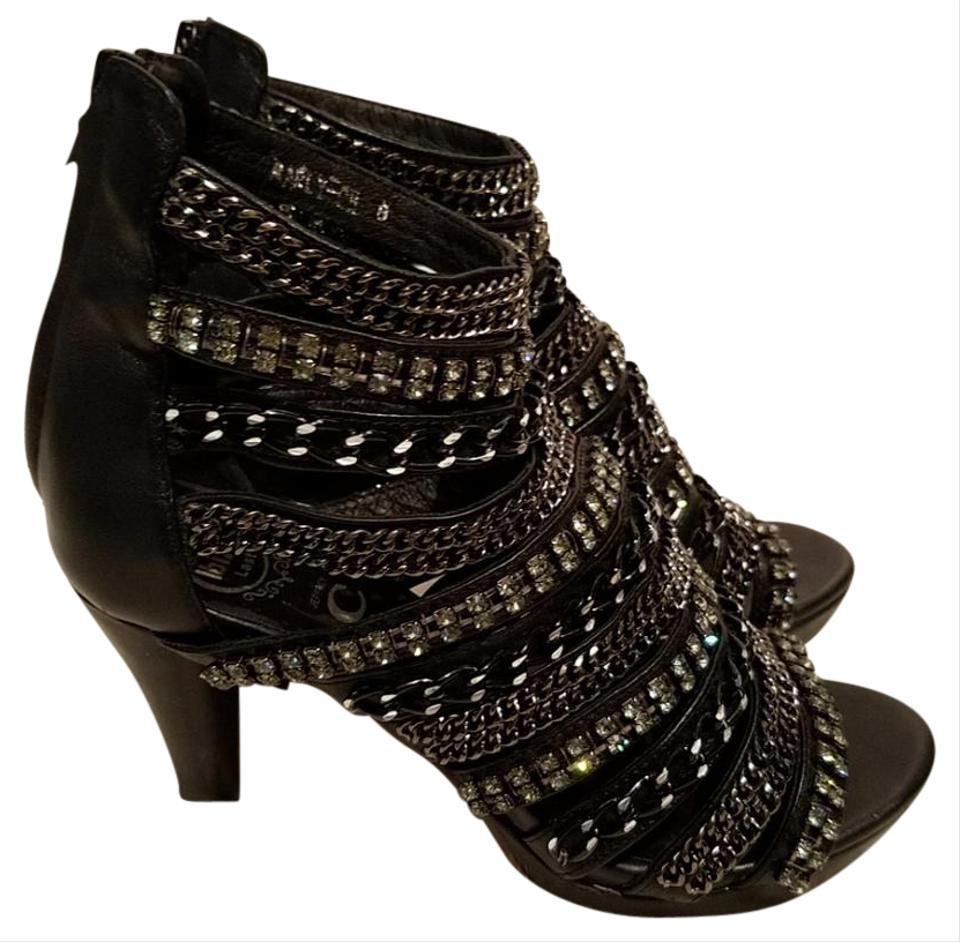 Jeffrey Campbell Marly Ch Caged Leather Platform Sandals