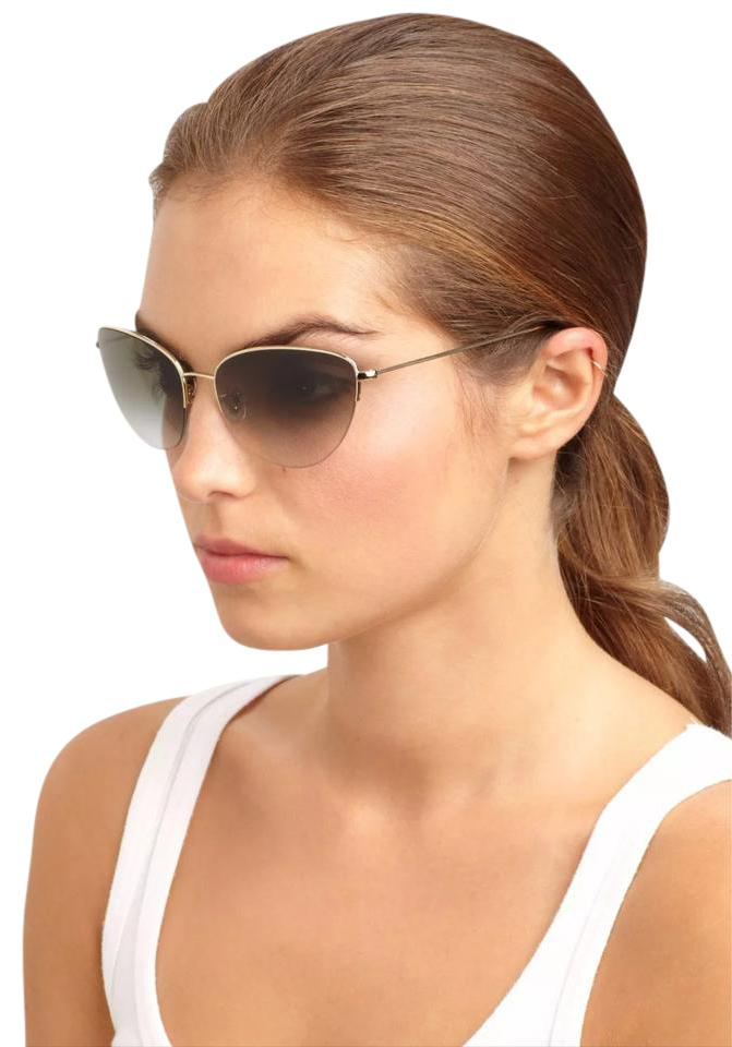9c998ee17d Oliver Peoples Golden Kiley Semi-rimless Cat Eye Sunglasses - Tradesy