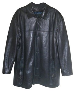 Bianca Nygard Leather Zip Front Lined Coat