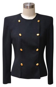 Akris Vintage Black Akris Double Breasted Blazer