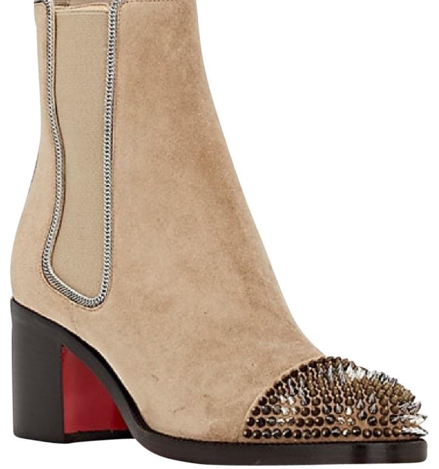 best service 541a4 54806 Christian Louboutin Otaboo Camel Suede Spike Toe Boots/Booties Size EU 38  (Approx. US 8) Regular (M, B) 38% off retail