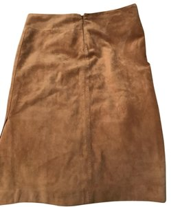 Gucci Sleek Suede Sexy Designer Skirt Tan
