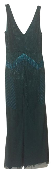 Item - Dark Green/ Blue Green Evening Long Formal Dress Size 10 (M)