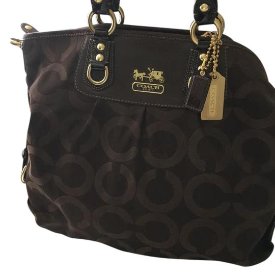 Preload https://img-static.tradesy.com/item/21868000/coach-madison-julianne-chocolate-brown-canvas-tote-0-1-540-540.jpg