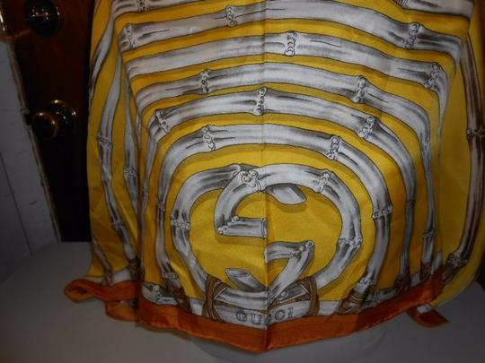 Gucci Gucci Bamboo Silk Scarf Yellow Colorway Large 42 Inches Square Image 11