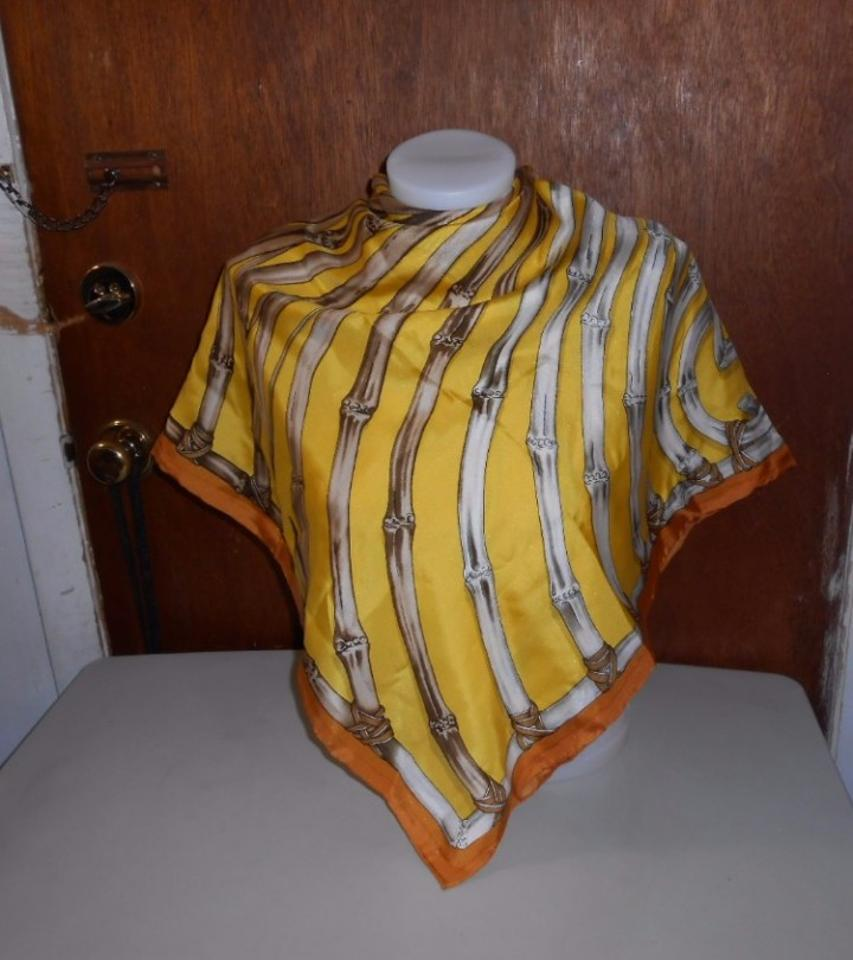 f27bcffde97 Gucci Yellow Colorway Bamboo Silk Large 42 Inches Square Scarf/Wrap