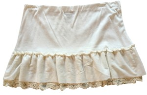 Wet Seal Mini Fun Sexy Date Night Mini Skirt Cream