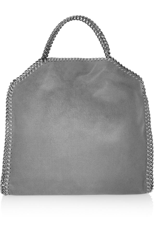 645757e96059 Stella McCartney Medium Falabella Light Gray Faux Leather Shoulder ...
