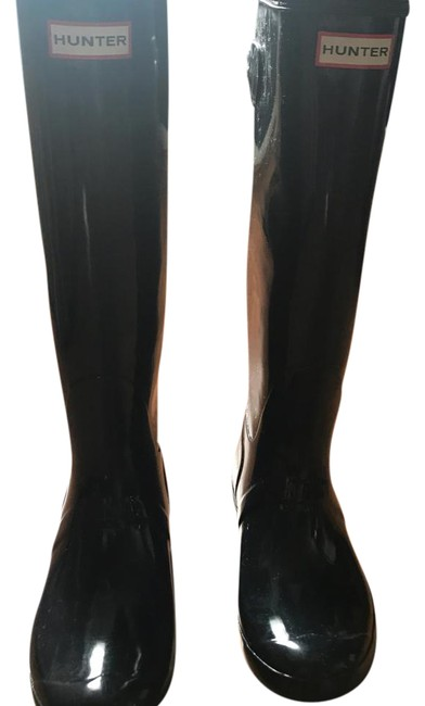 Item - Navy Tall Gloss Rain Boots/Booties Size US 9 Wide (C, D)