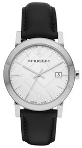Burberry 100% Brand New in the Box Burberry Mens Black Silver Dial watch BU9008