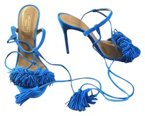 Aquazzura Mondrian Blue Sandals