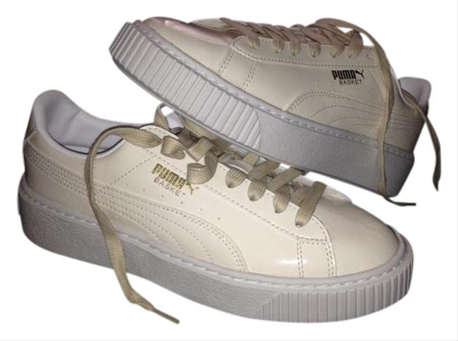 Item - White Rhianna Creepers Platform Patent Leather Sneakers Size US 7.5 Regular (M, B)
