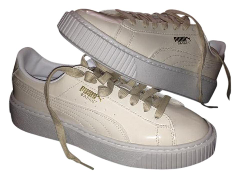 online retailer 7733e 1685d Puma White Rhianna Creepers Platform Patent Leather Sneakers Size US 7.5  Regular (M, B)