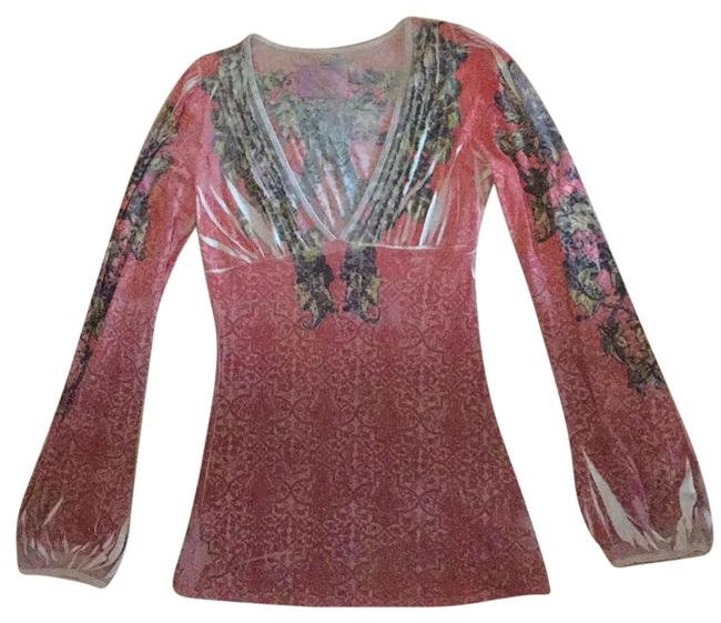 Item - Multicolored Bohemian Print with Large Bell Sleeves Blouse Size 8 (M)