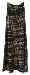 Black and white Tie Dye Maxi Dress by Hard Tail Cotton