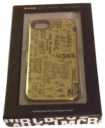 Marc Jacobs New Marc Jacobs Gold Black iPhone 5 Case Cover With Inside Mirror $78 MJ