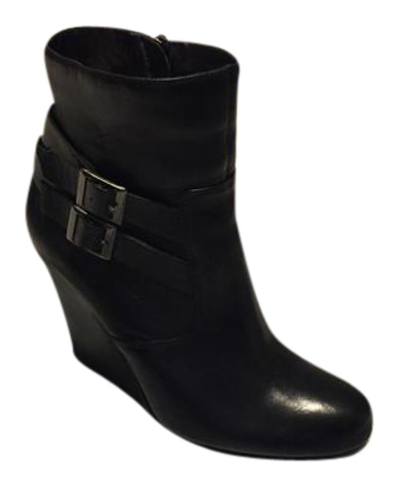 1fd34eb92411 DKNY Black Wedge Boots Booties Size US 8.5 Regular (M