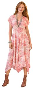 Coral Maxi Dress by Sundance Bohemian Silk Eclectic