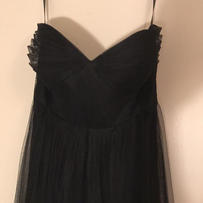 Item - Black Polyester Annabelle Traditional Bridesmaid/Mob Dress Size 6 (S)