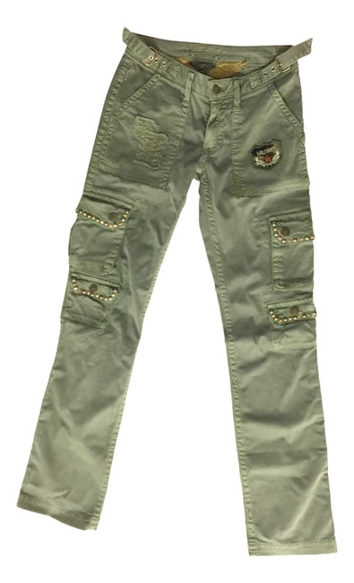Item - Green Distressed Military Cargo Jeans Size 24 (0, XS)