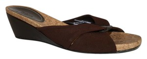 Style & Co Fabric Cushioned Brown Wedges