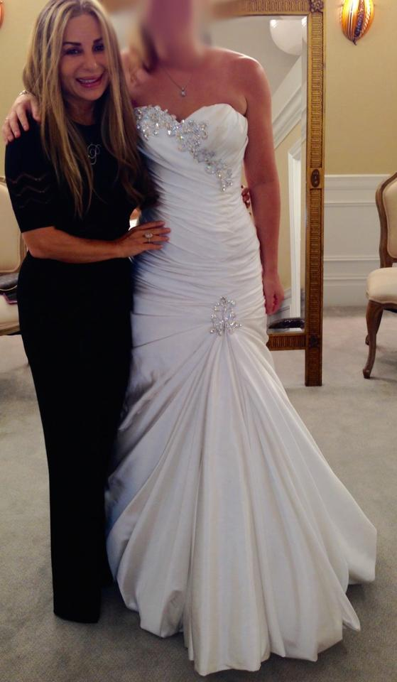 Pnina Tornai White Silk Strapless 2015 Formal Wedding Dress Size 6 ...