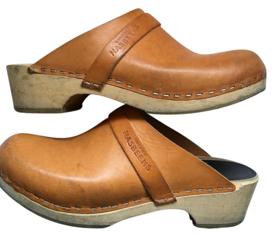 Women's swedish Good hasbeens Tan Husband Mules/Slides Good swedish market 328a99